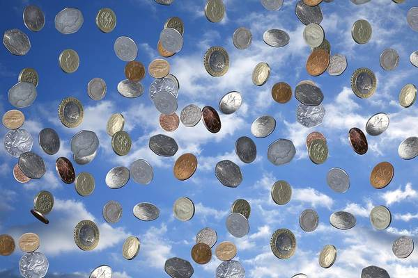 Capitalism Wall Art - Photograph - Money Shower by Victor De Schwanberg