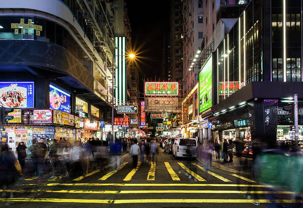 Photograph - Mong Kok Crosswalk by Geoffrey Lewis