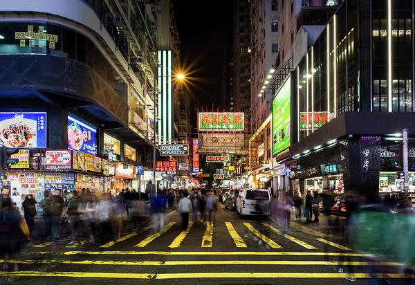 Photograph - Mong Kok Crosswalk by Geoffrey Lewis