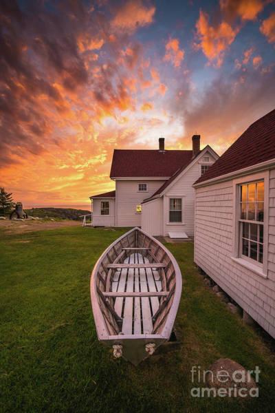 Dinghies Photograph - Monhegan Dory Sunset by Benjamin Williamson