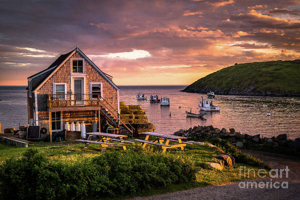 Lobstering Photograph - Monhegan Island by Benjamin Williamson
