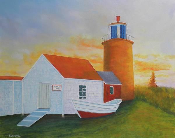Painting - Monhegan Light by Scott W White
