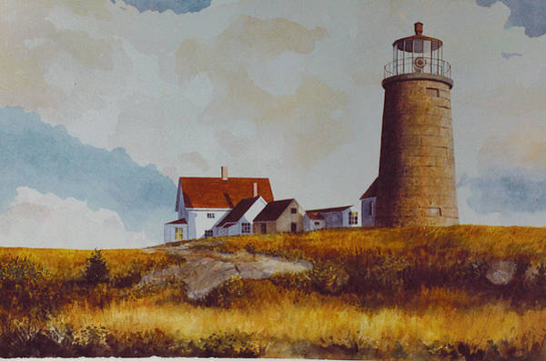 Painting - Monhegan Light by Tyler Ryder