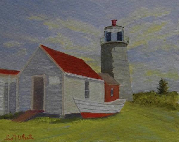 Painting - Monhegan Lighthouse Study by Scott W White