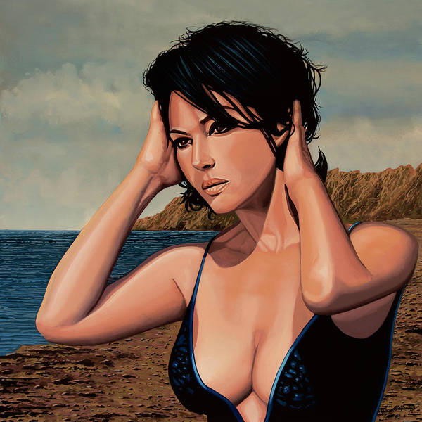Wall Art - Painting - Monica Bellucci 2 by Paul Meijering