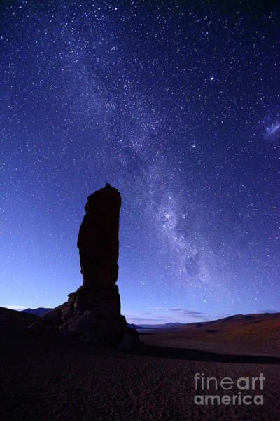 Photograph - Monjes De La Pacana And Milky Way Chile by James Brunker