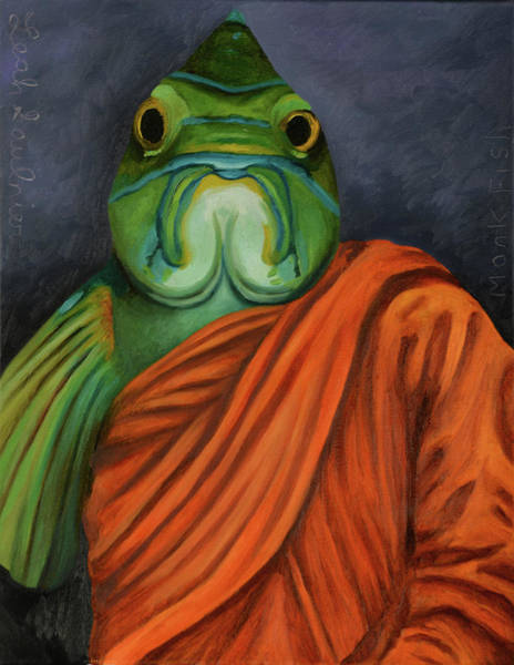 Painting - Monk Fish by Leah Saulnier The Painting Maniac