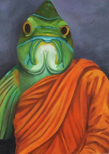 Painting - Monk Fish Wip by Leah Saulnier The Painting Maniac