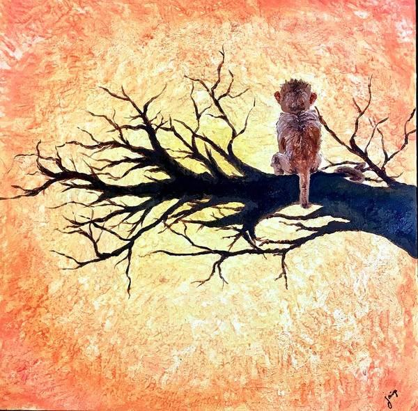 Ghana Painting - Monkey by Alicea Simone