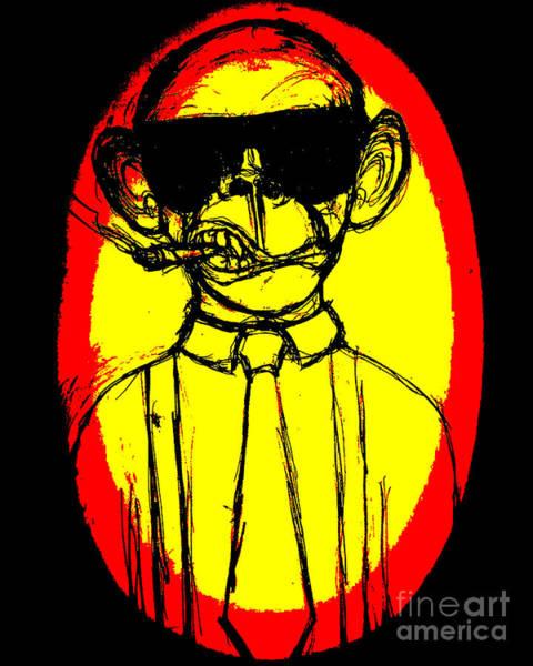 Growing Up Digital Art - Monkey Business by Mat Saxon