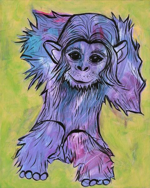 Painting - Monkey Mischief by Darcy Lee Saxton