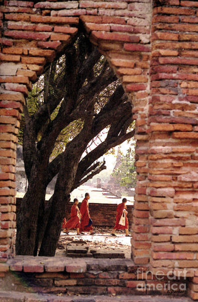 Capitol Digital Art - Monks Among The Ruins by Linda  Parker