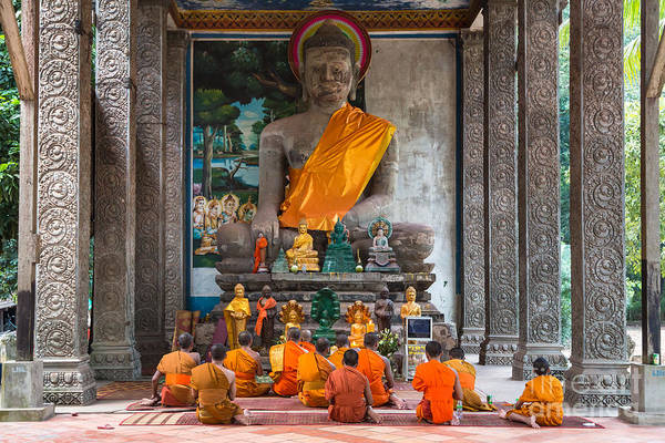 Photograph - Monks In Angkor Wat by Didier Marti
