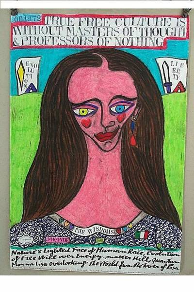 Wall Art - Painting - Monna Lisa Of Free Culture by Francesco Martin