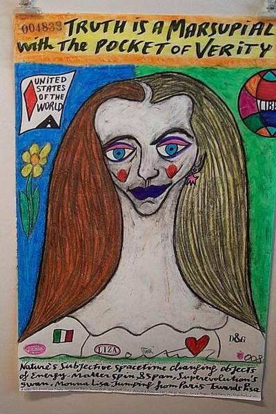 Wall Art - Painting - Monna Lisa Of Verity by Francesco Martin