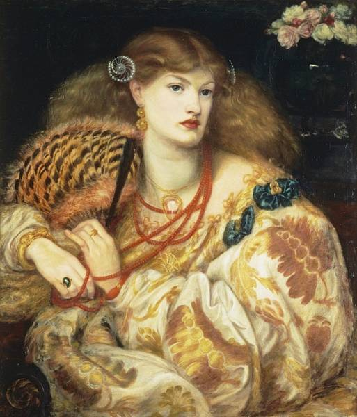 Painting - Monna Vanna by Dante Gabriel Rossetti