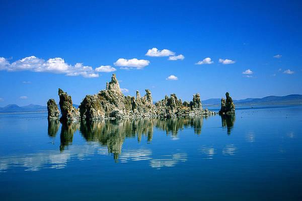 Photograph - Blue Mono Lake Tufa Towers California by Peter Potter