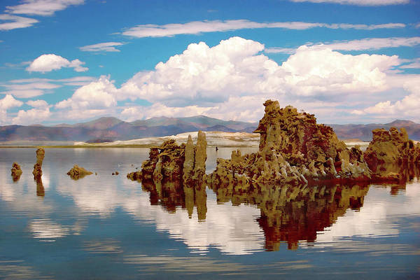 Mono Painting - Mono Lake California Tufa Tower Formations by Elaine Plesser