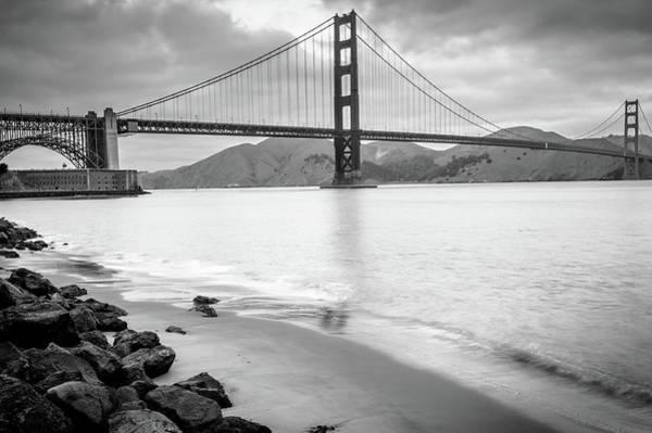 Photograph - Monochromatic San Francisco California Bridge by Gregory Ballos