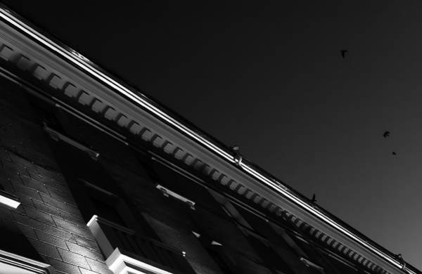 Photograph - Monochrome Black And White Building Abstract by John Williams
