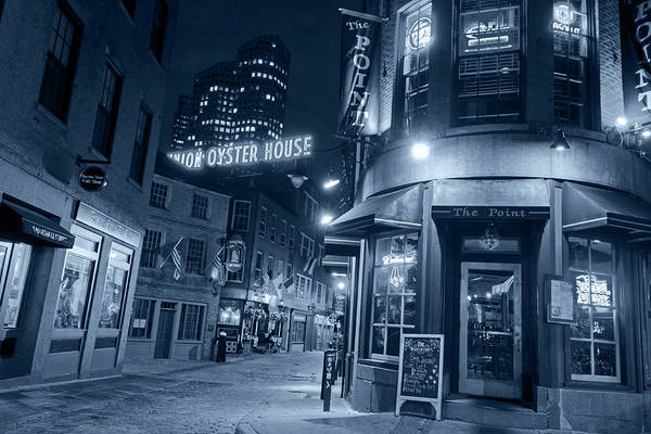 Photograph - Monochrome Blue The Point Marshall Street Boston Ma by Toby McGuire