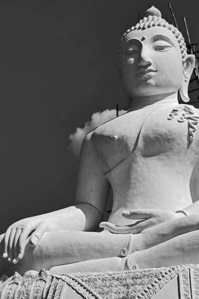 Photograph - Monochrome Buddha by Lee Webb