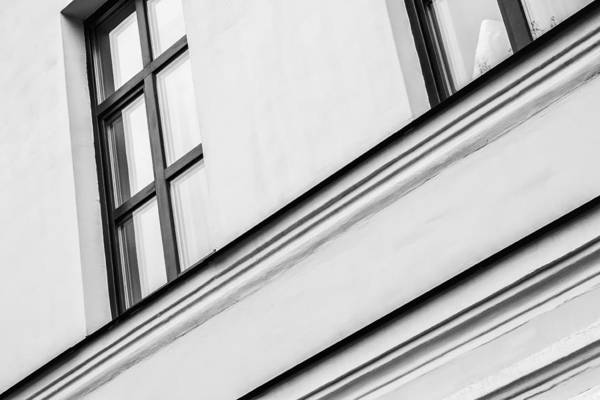 Photograph - Monochrome Building Abstract 5 by John Williams