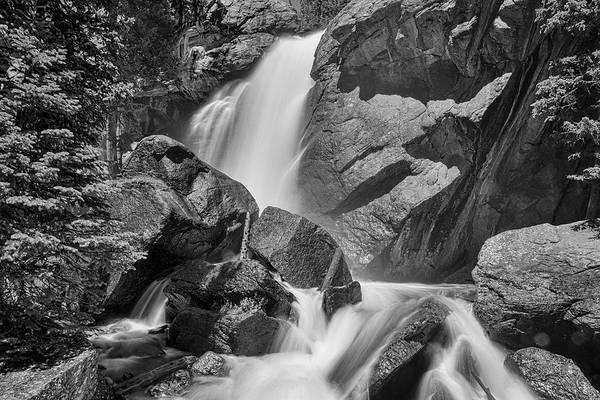Photograph - Monochrome Colorado Ouzel Falls by James BO Insogna