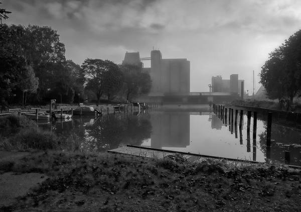 Photograph - Monochrome  Harbour October. by Leif Sohlman