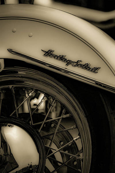 Photograph - Monochrome Heritage Softail 5499 Bw_2 by Steven Ward