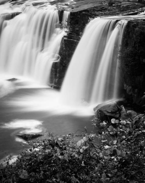 Photograph - Monochrome Little River Falls by Parker Cunningham