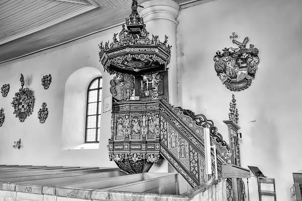 Photograph - monochrome Pulpit by Leif Sohlman