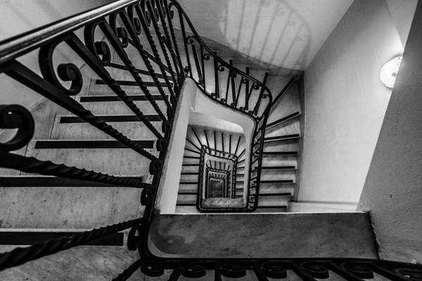 Photograph - Monochrome Spiral by Randy Scherkenbach