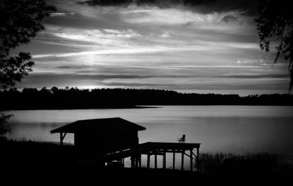 Photograph - Monochrome Sunset Memories by Parker Cunningham