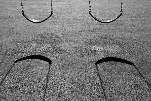 Wall Art - Photograph - Monochrome Swings by Luke Moore