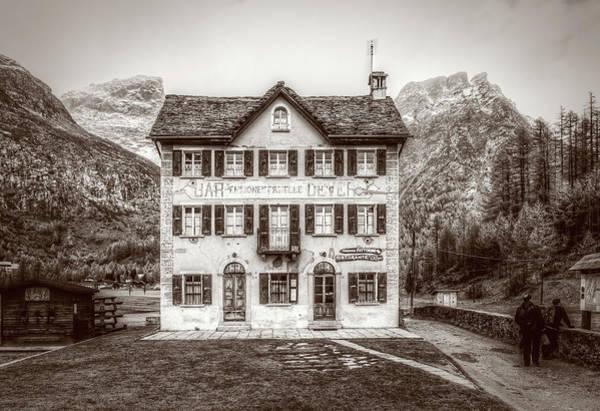 Photograph - Monochrome View Of Pensione Fattorini by Roberto Pagani