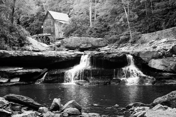 Photograph - Monochrome Waterfalls At Glade Creek Mill - West Virginia by Gregory Ballos