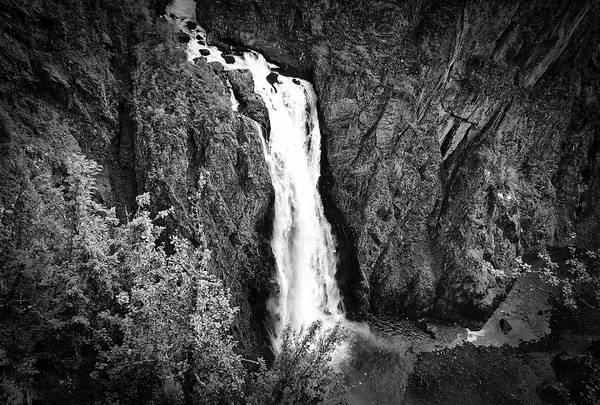 Photograph - Monochromic Waterfall by David Resnikoff