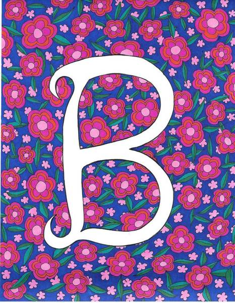 Drawing - Monogram B by Roberta Dunn
