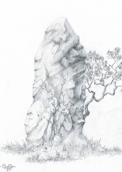 Celtic Mythology Wall Art - Drawing - Monolith 2 by Curtiss Shaffer