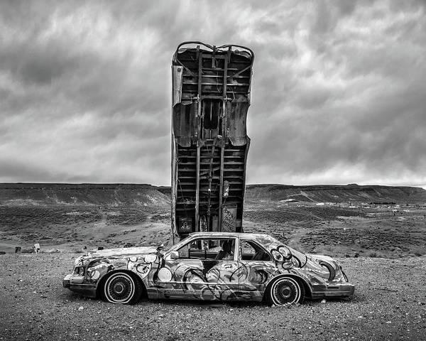 Wall Art - Photograph - Monolith And Sedan by Joseph Smith