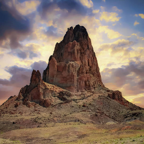 Photograph - Monolith Sunset - American Southwestern Landscape - Square Format by Gregory Ballos
