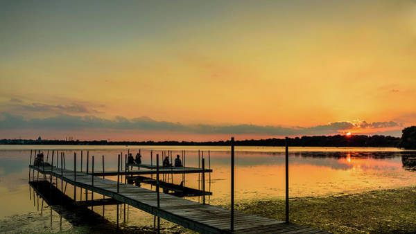 Photograph - Monona Sunset by Randy Scherkenbach
