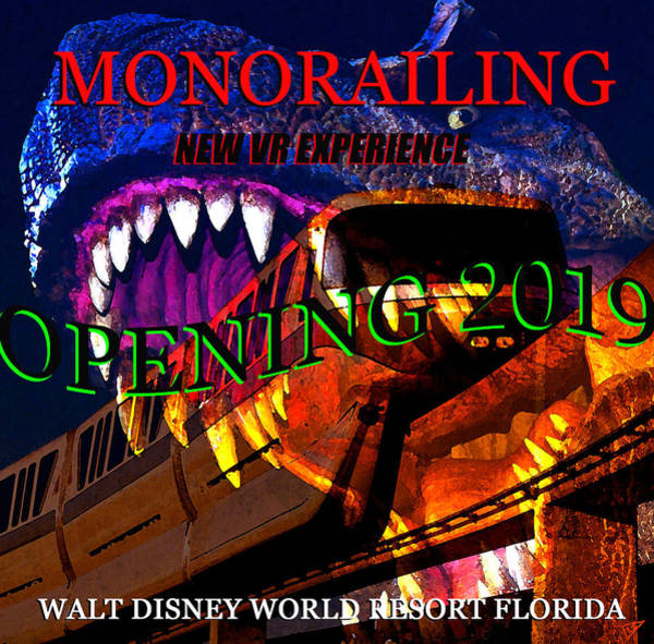 Disney World Digital Art - Monorailing Vr Experience  by David Lee Thompson