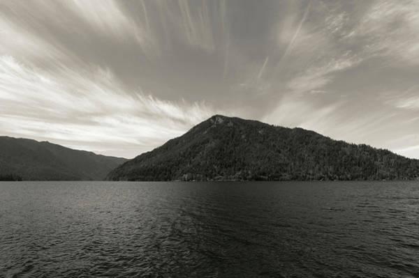 Photograph - Monotone Lake Crescent by Dan Sproul