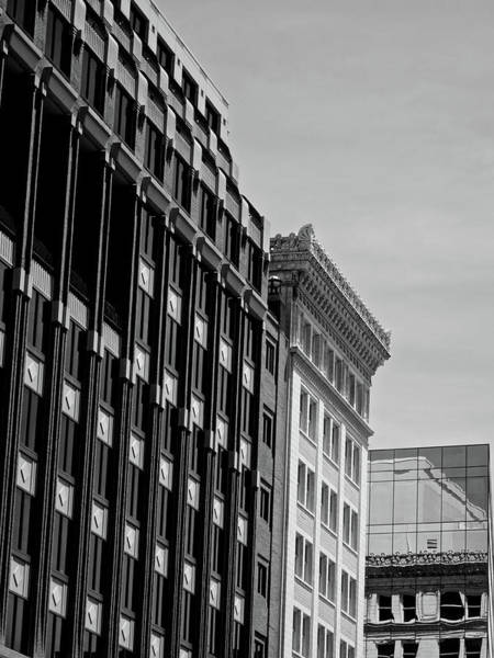 Federal Triangle Wall Art - Photograph - Monotone Reflections by Kathi Isserman