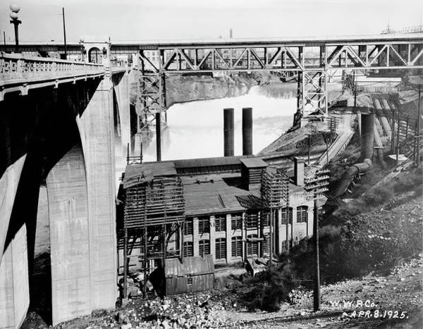 Wall Art - Photograph - Monroe St Bridge W W P Power Station 1925 by Daniel Hagerman