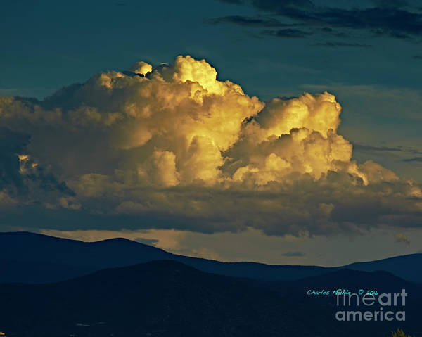 Photograph - Monsoon In Taos by Charles Muhle