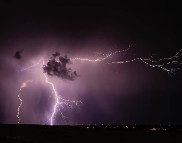 Lightning Strike Photograph - Monsoon Lightning by Medicine Tree Studios