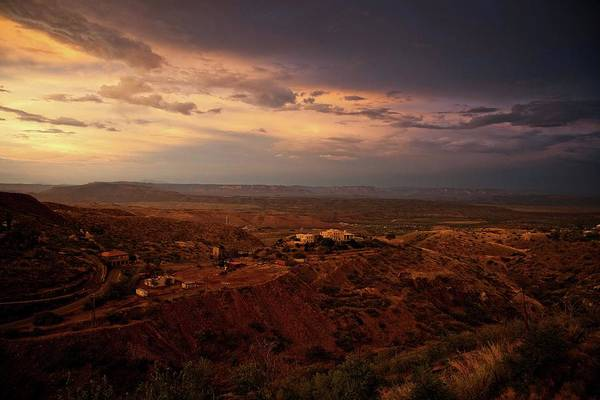 Photograph - Monsoon Storm Afterglow by Ron Chilston